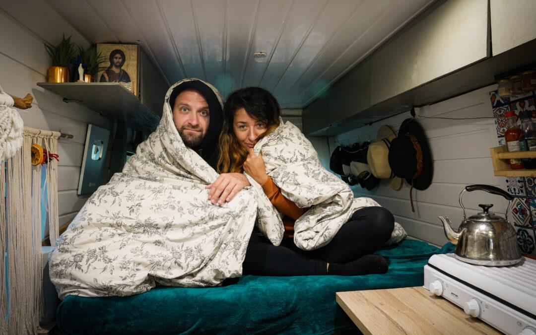 Ciepło zimą w kamperze